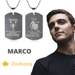 Collier Signe Astrologique Scorpion Marco - Zodiasq