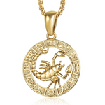 Collier Signe Astrologique Scorpion TEMPLE - Zodiasq