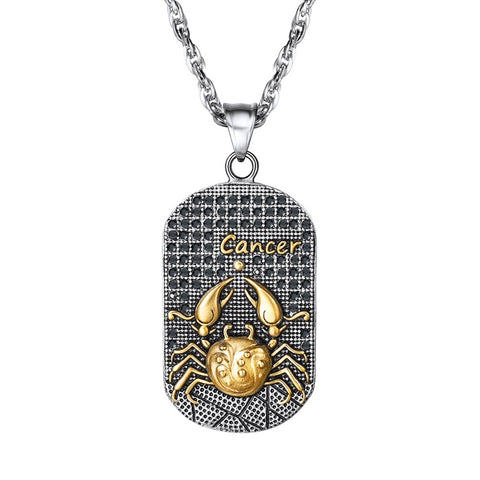 Collier Signe Astrologique Cancer ADAM - Zodiasq