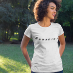 Tee Shirt Signe Astrologique Verseau Friends Blanc