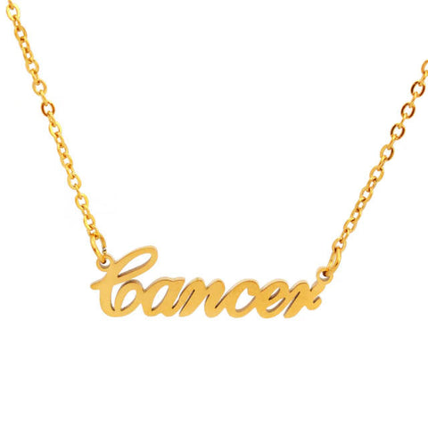 Collier Signe Astrologique Cancer MANON - Zodiasq