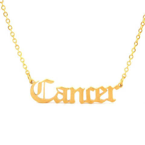 Collier Signe Astrologique Cancer CLAUDIA - Zodiasq