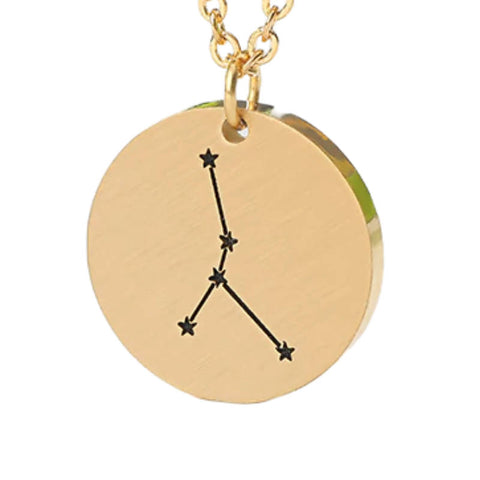Collier Signe Astrologique Cancer Constellation PAULINE - Zodiasq