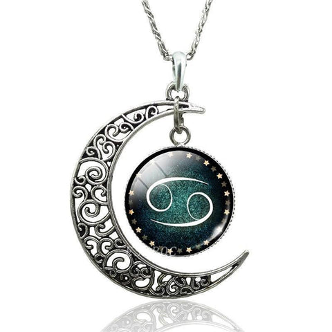 Collier Signe Astrologique Cancer AMELIE - Zodiasq