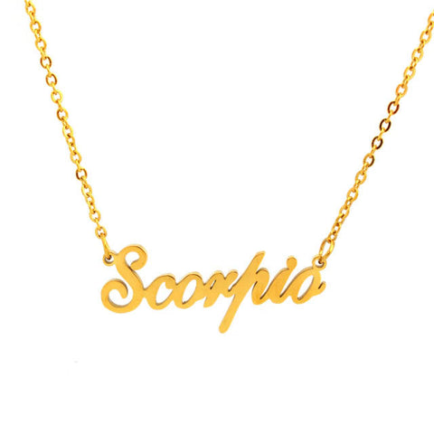 Collier Signe Astrologique Scorpion MANON - Zodiasq