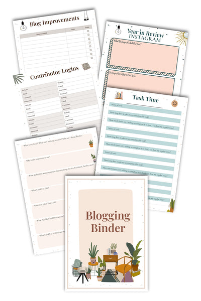 Blogging Binder preview