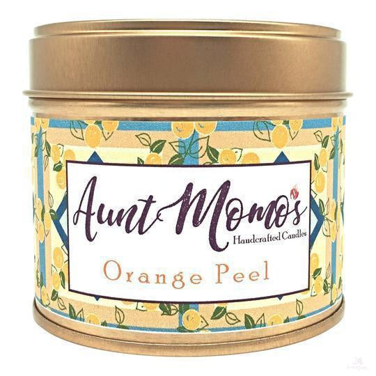 Orange Peel Scented Container Candle-Scented Container Candle-Aunt Momo's Handcrafted Candles