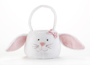 Plush Round Bunny Basket