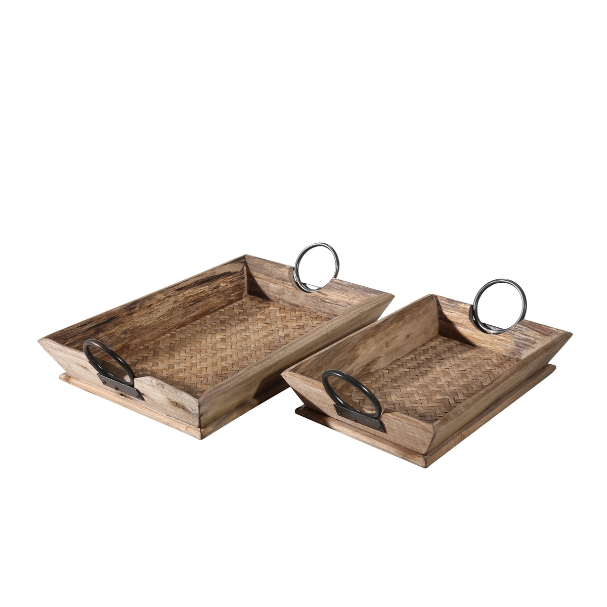 Wood Trays Brown