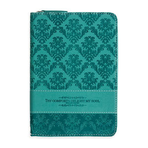 Zippered Scripture Journal - Thy Comforts Delight My Soul