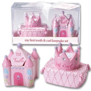 First Tooth and Curl Keepsake Set - Girl