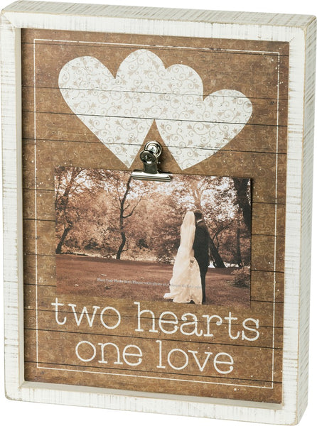 Inset Box Frame - Two Hearts