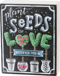 Chalk Sign - Seeds of Love