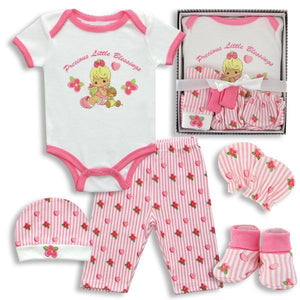 5-Piece Precious Moments Baby Girl Box Set - Precious Little Blessings