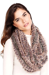 Eternity Natural Knit Faux Fur Scarf