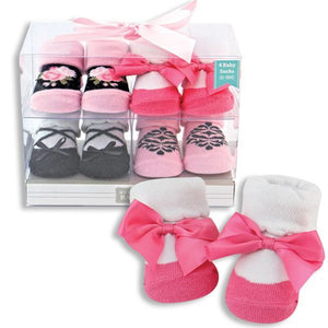 Baby Girl 4-Pack Socks Gift Set
