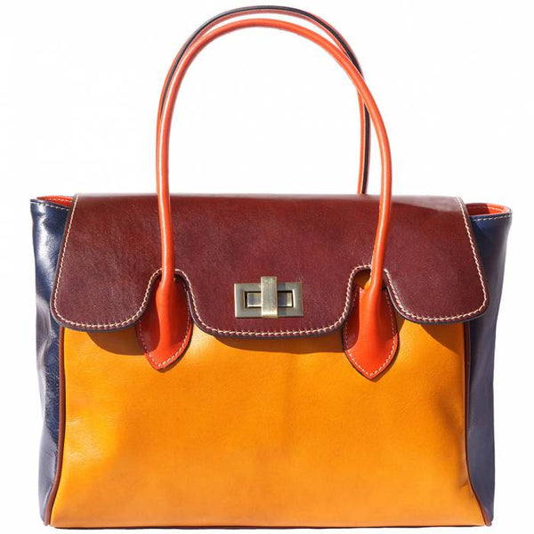 Taziana Leather Shoulder Bag - Multicolor