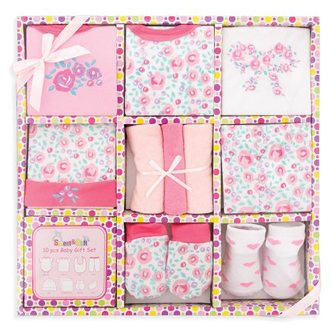 10-Piece Baby Gift Set - Girl