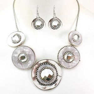 Round Shape Metal Necklace Set