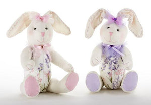 Jointed Lavender Bunny,2 Asst