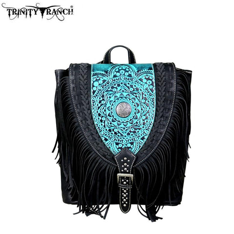 Trinity Ranch Tooled Leather Collection Backpack