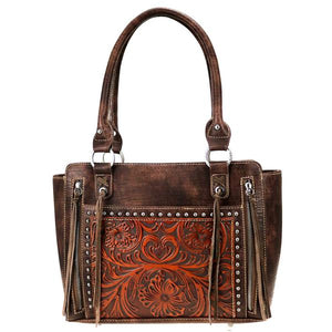 Trinity Ranch Tooled Leather Collection Tote