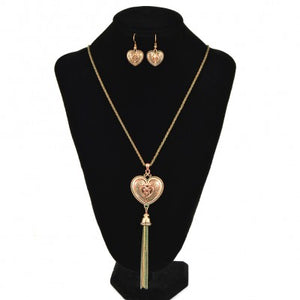 "Heart Tailored Look 30"" Long Necklace"