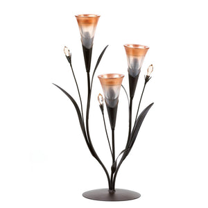 Dawn Lilies Candle Holder