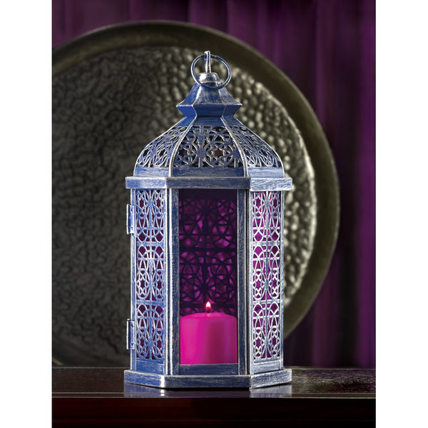 Enchanted Amethyst Candle Lamp/Floral Arrangement Attached
