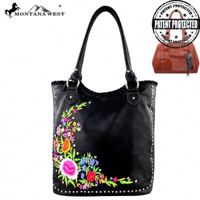 Embroidered Concealed Carry Handbag