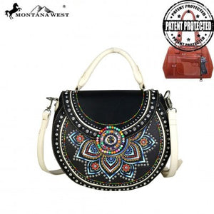 Concho Collection Concealed Carry Half Moon Tote