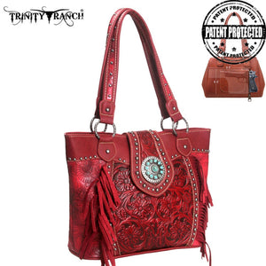 Trinity Ranch Tooled Design Concealed Handgun Handbag
