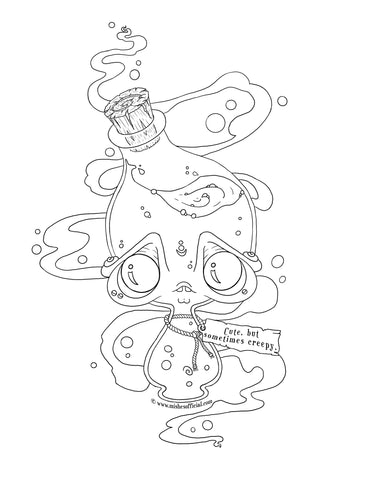 Potion Bottle Coloring Page © www.mishesofficial.com