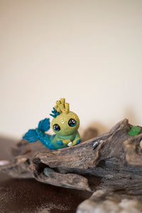 Ren the Mermish - OOAK collectible handmade polymer clay art toy gift