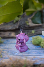 Violet the goblin Mish - OOAK collectible handmade polymer clay art toy gift
