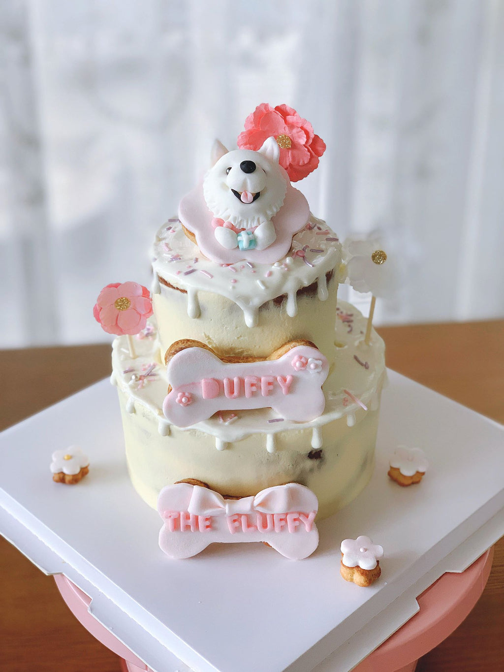 """Princess"" Drizzle Tiered Cake"