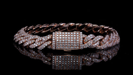 10k Rose Gold ToranoMax Setting Cuban Link Diamond Bracelet