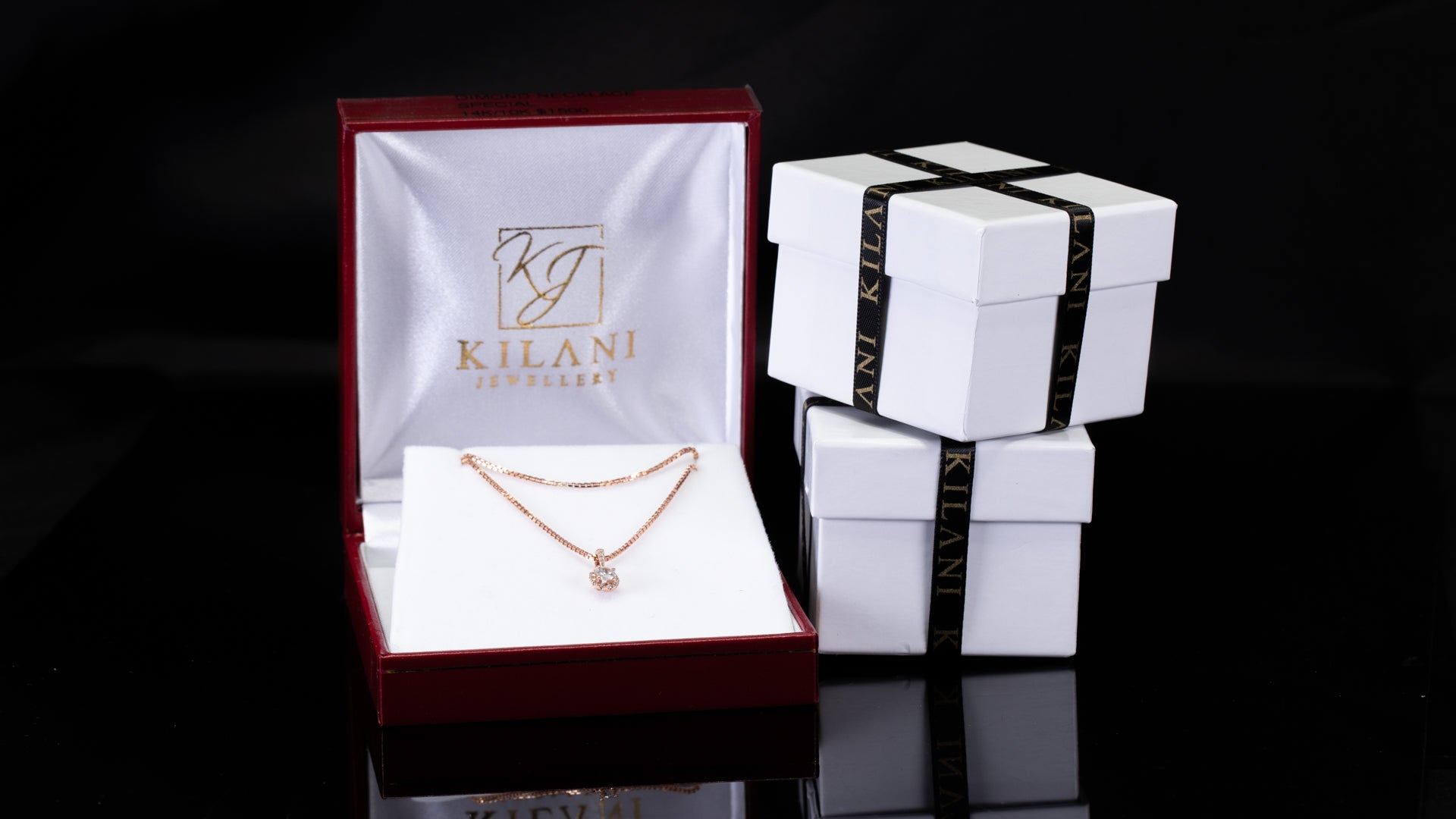 [SPECIAL] 10k/14k Rose Gold Solitaire Diamond Necklace