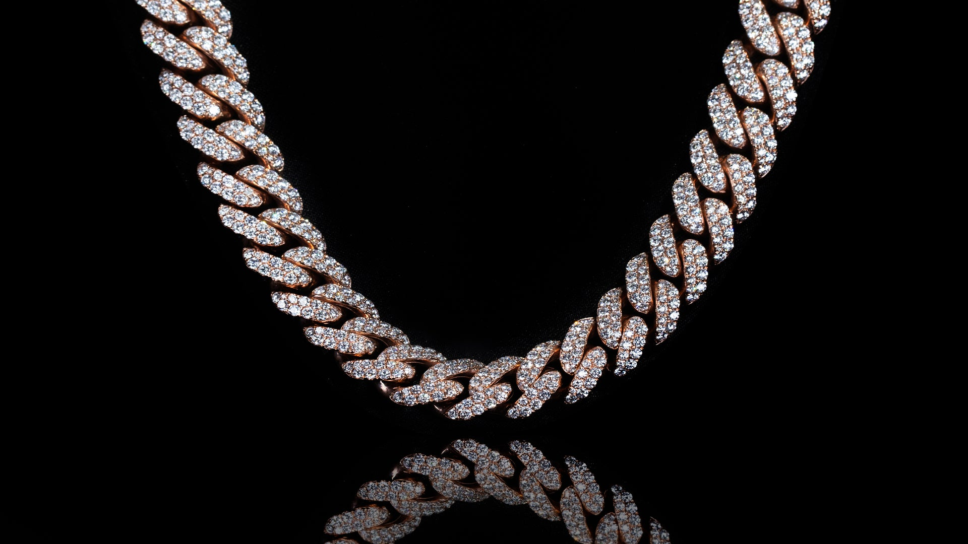 10k Rose Gold ToranoMax Setting Diamond Cuban Link Chain