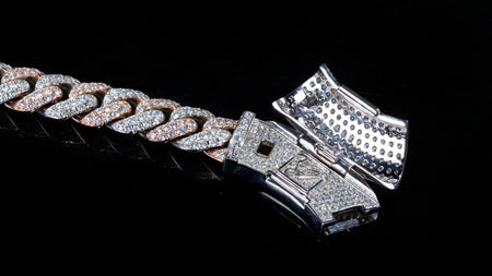 10k Two-Tone Gold ToranoMax Setting Diamond Cuban Link Chain