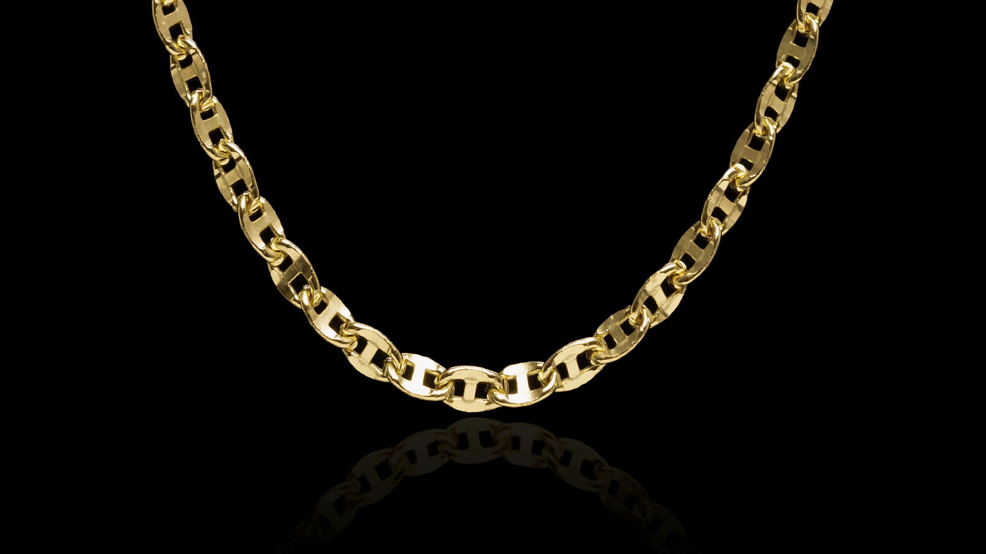 10K Yellow Gold Ballerina Link Chain