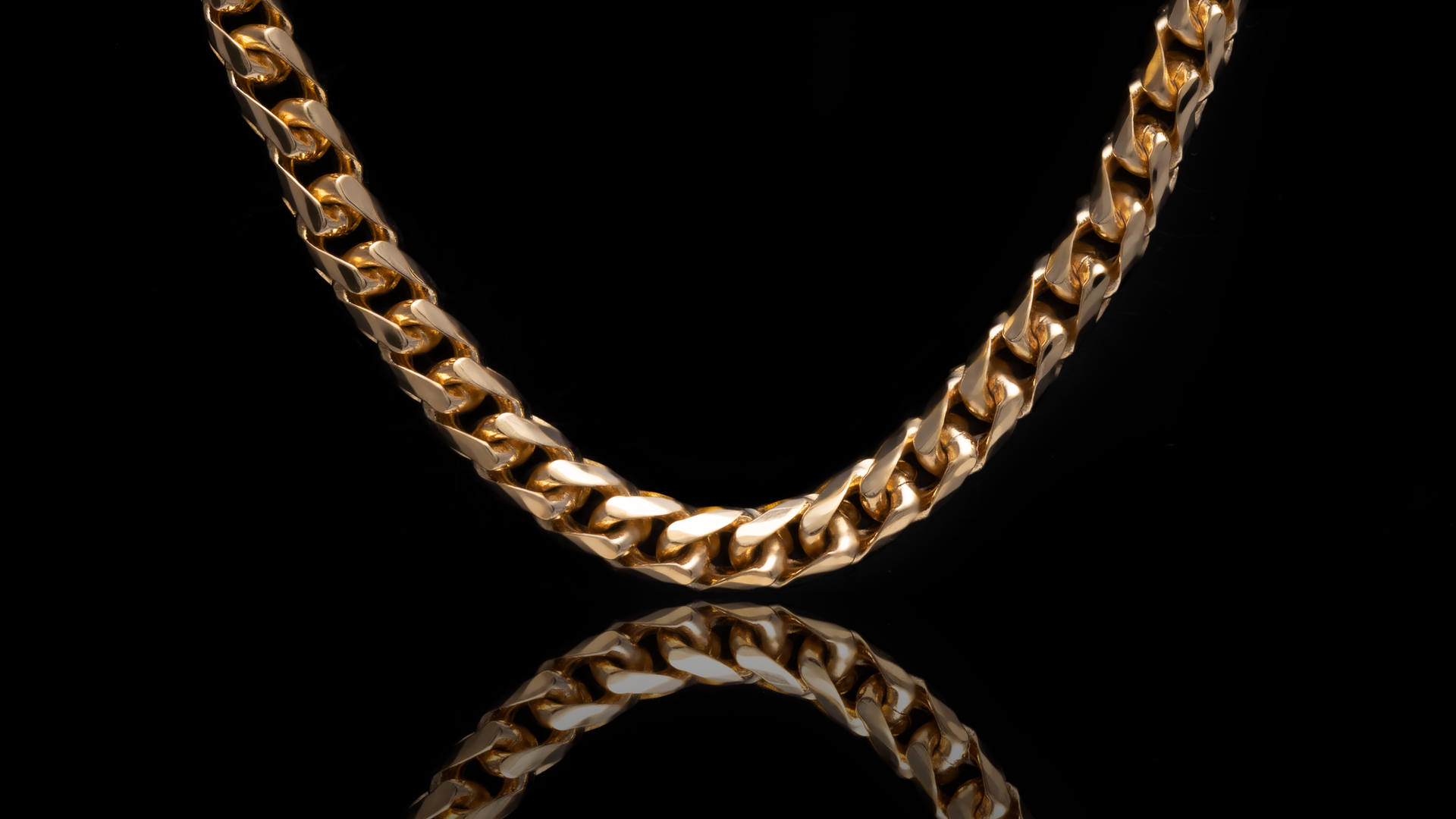 18K Yellow Gold Basra Link Chain