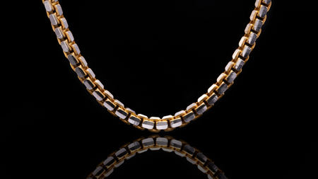 10K Two-Tone Gold Ashor Link Chain