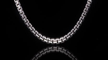 10K White Gold Ashor Link Chain