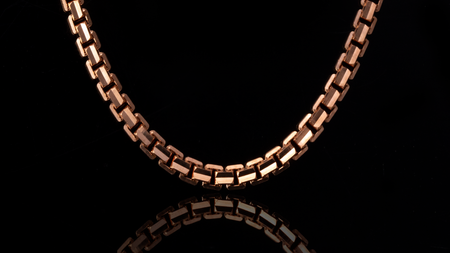 10K Rose Gold Ashor Link Chain