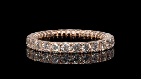 18K Rose Gold Tor-Nado Eternity Diamond Band Ring