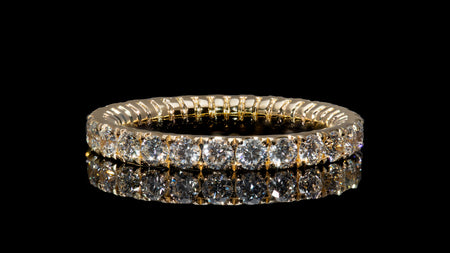 18K Yellow Gold Tor-Nado Eternity Diamond Band Ring