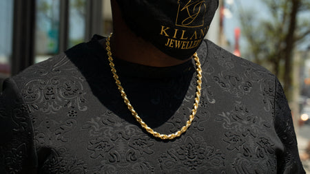 10K Yellow Gold Hatra Link Chain