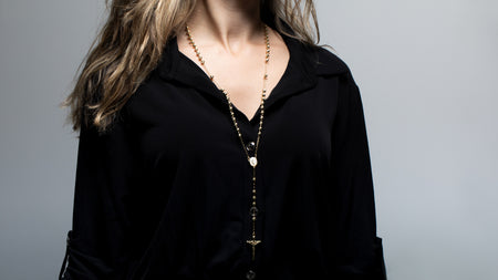 10K Yellow Gold Rosary Necklace