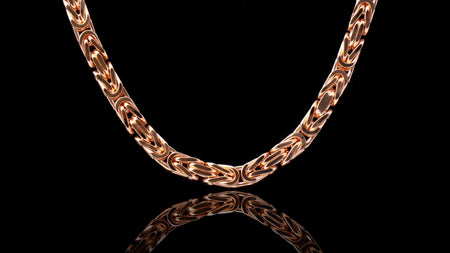 10K Rose Gold Babel Link Chain